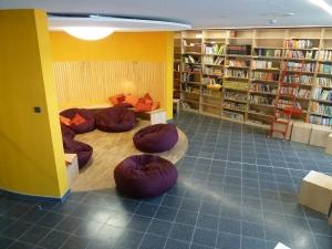 Bücherei und Leseecke