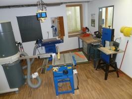 Werkraum Holz Maschinen