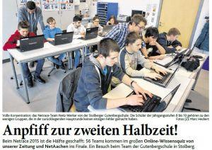 Zeitungsbericht 3.2.2015