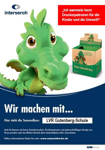 Recycling Sammelaktion der LVR-GUTENBERG-SCHULE