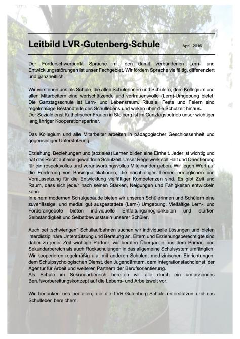 Leitbild Gutenberg 2016