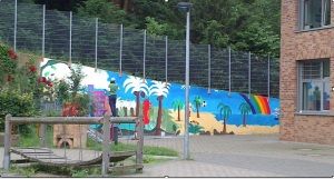 "Die Wand ""nachher""...."